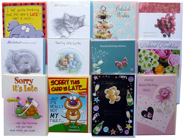 Belated birthday cards