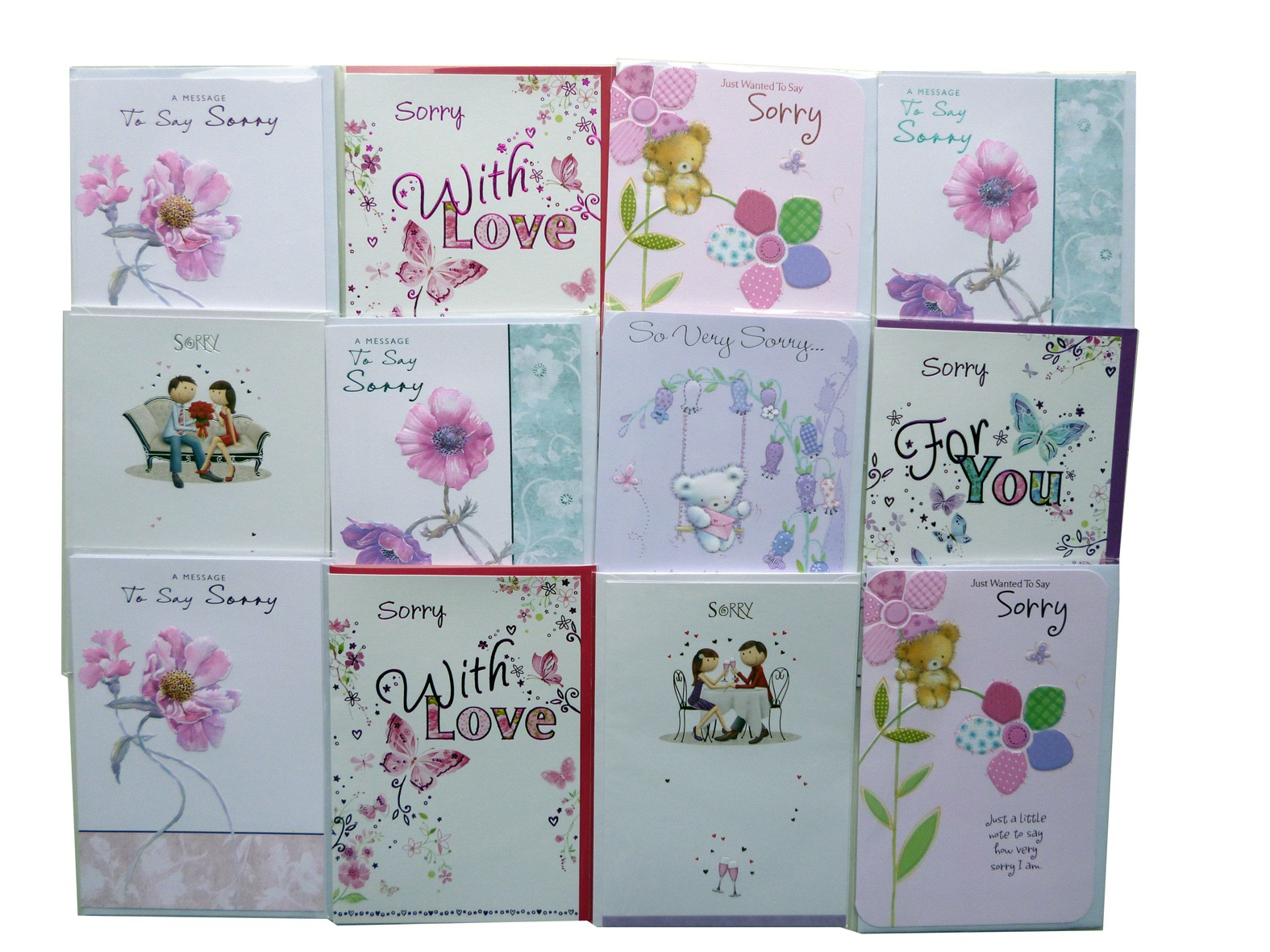 "assorted design ""Sorry"" cards,every card is different,order as many as you need."