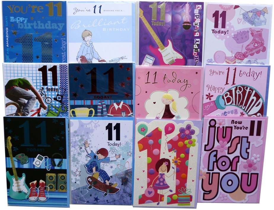 Age 11 birthday cards