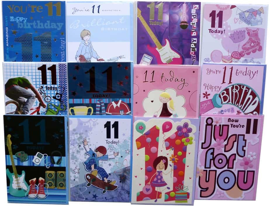 Age 11 birthday cards
