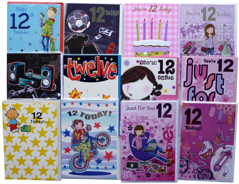 Age 12 birthday cards