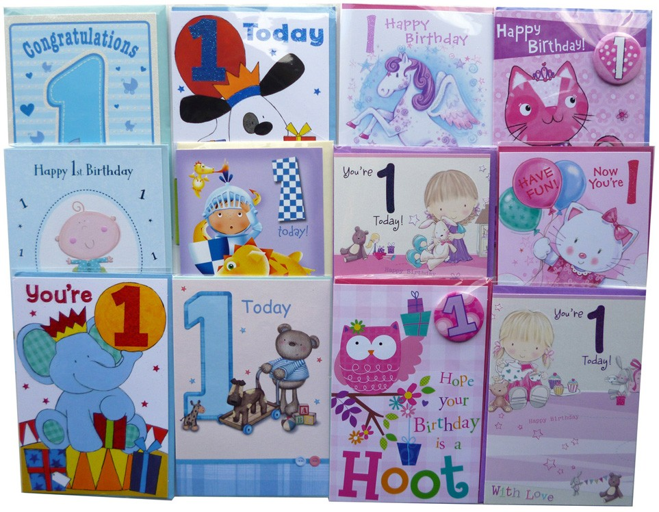 Age 1 birthday cards