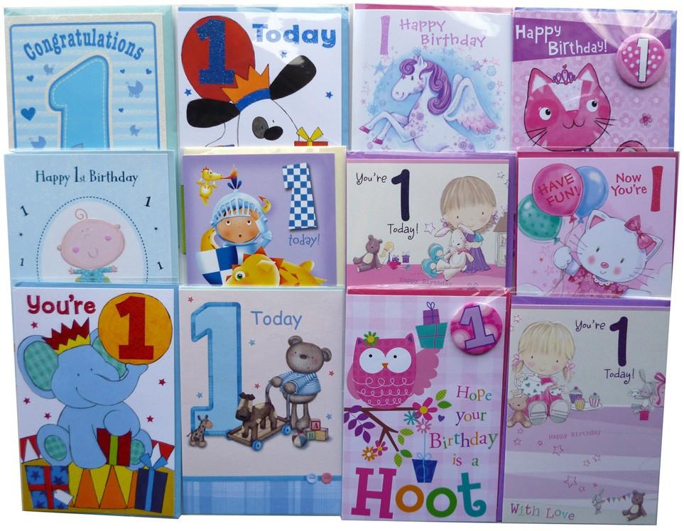 Age 1 birthday cards
