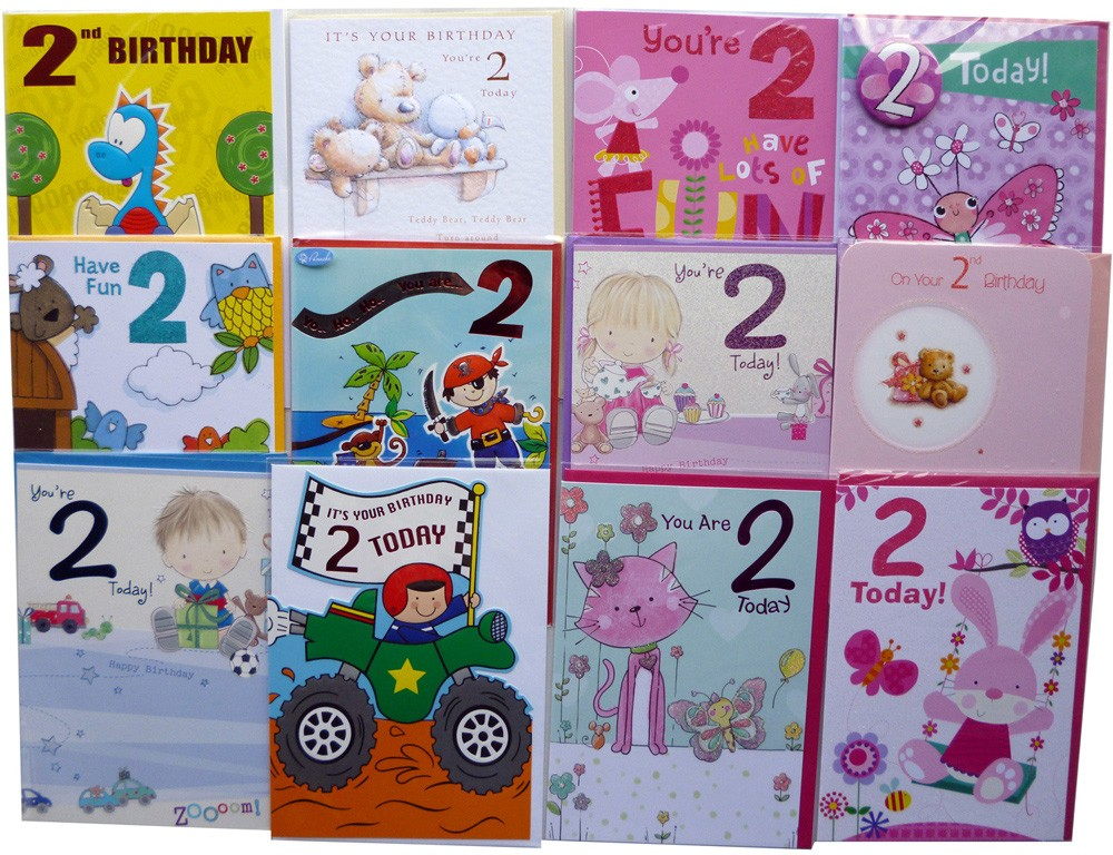 Age 2 birthday cards