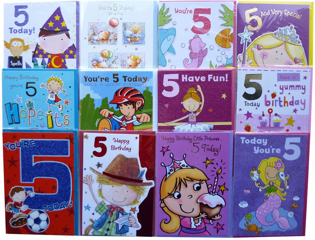 Age 5 Birthday Cards