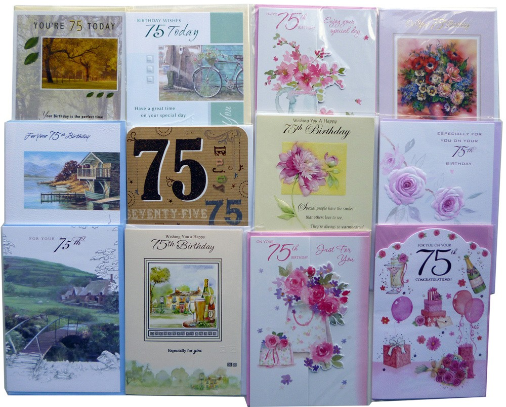 Age 75 birthday cards