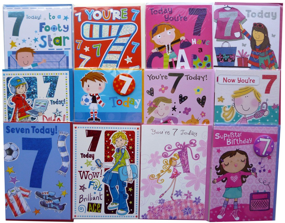 Age 7 birthday cards