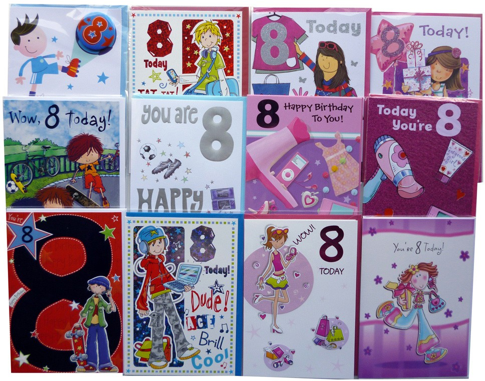 Age 8 birthday cards