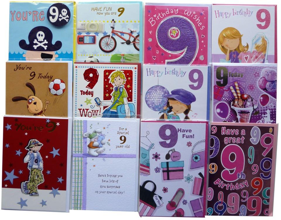 Age 9 birthday cards