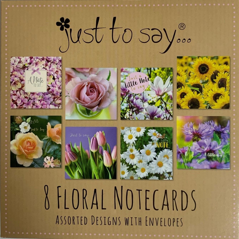 floral notelet cards