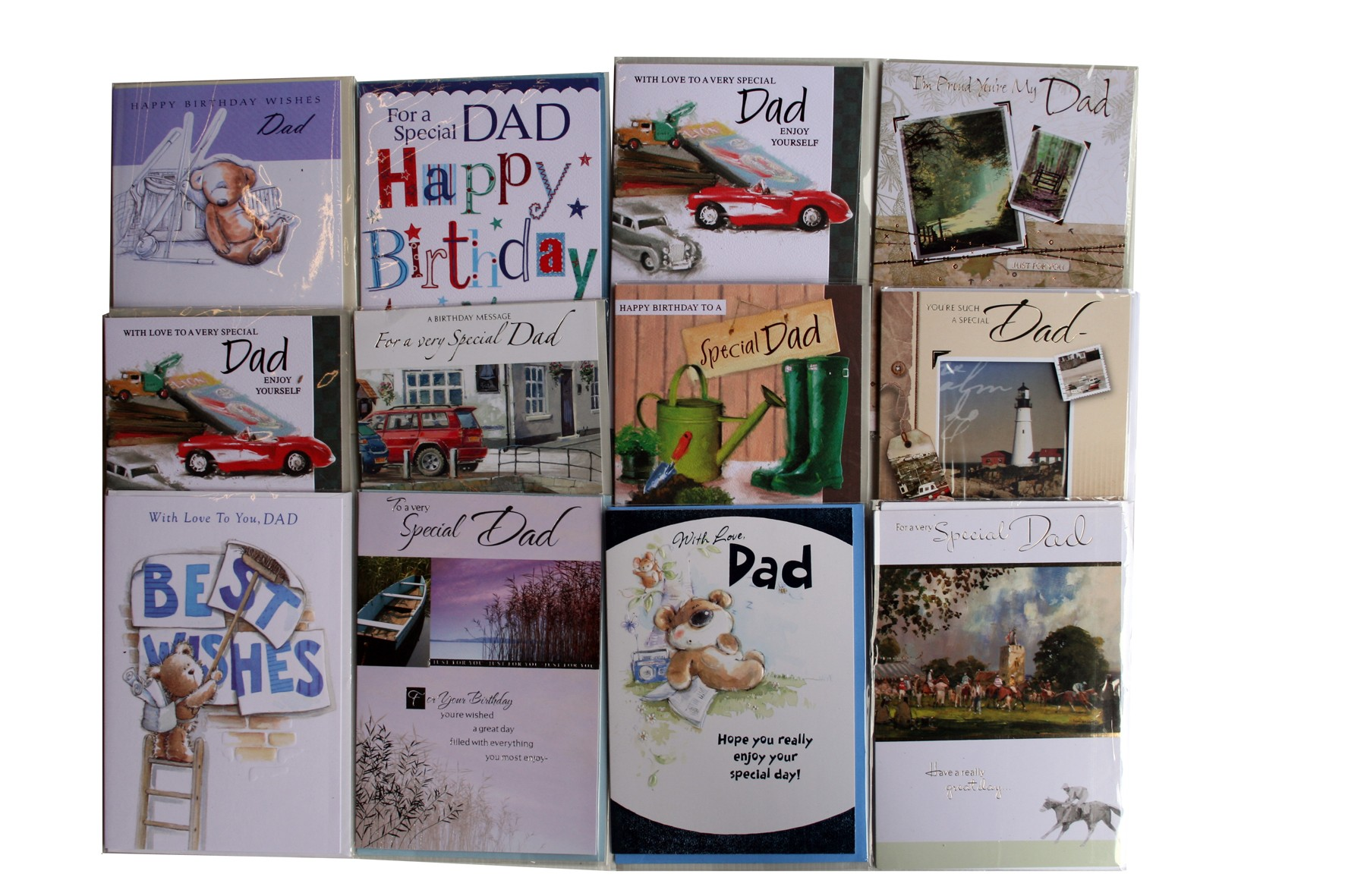 """Dad"" birthday cards, birthday cards, every card is different,order as many as you need."