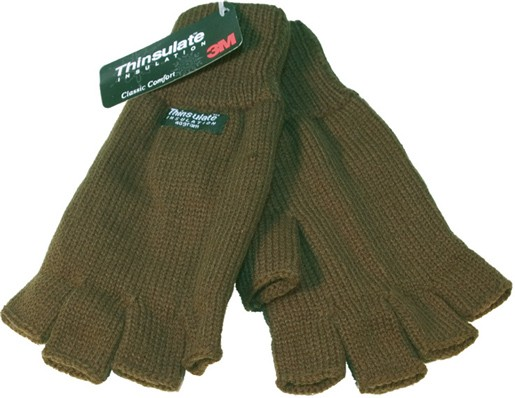 Fingerless gloves - Olive Green