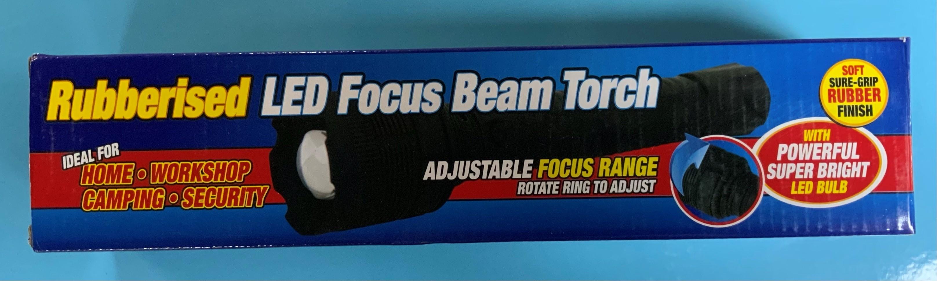 Rubberised LED Focus Beam Torch