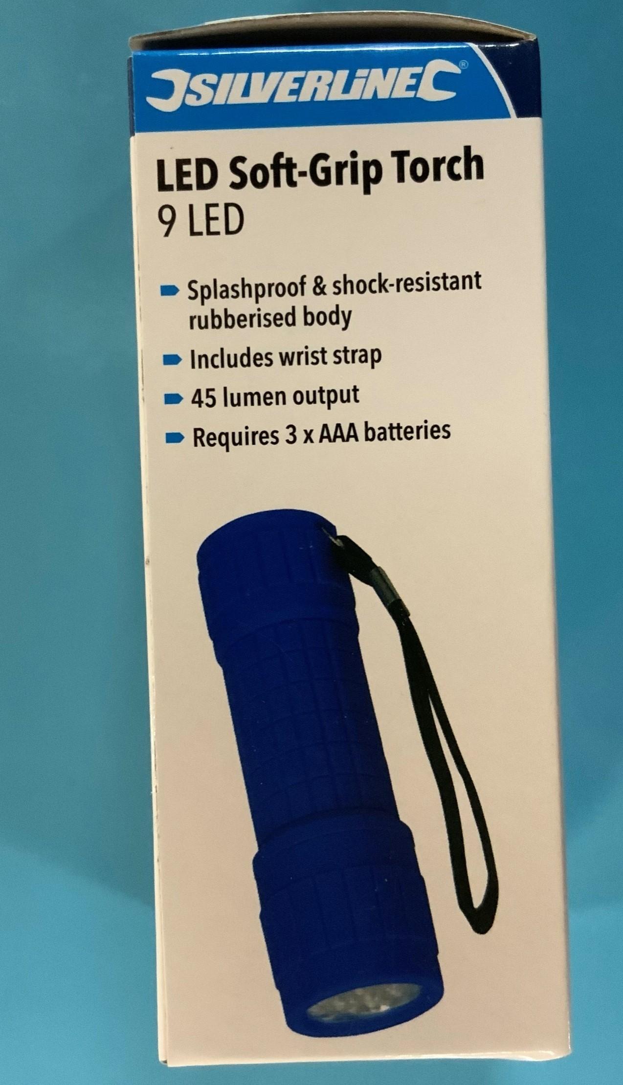 LED soft grip torch