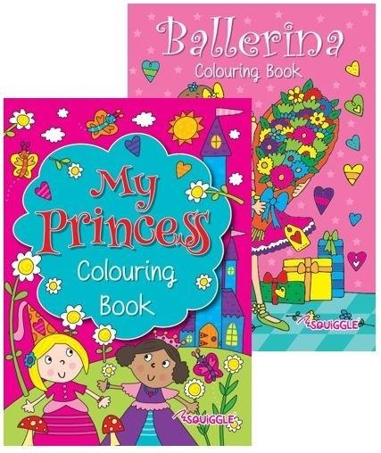 Princess Ballerina colouring book