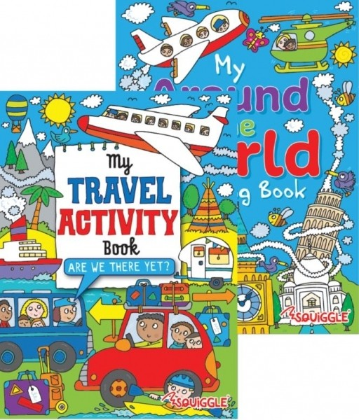 travel activity / around the world colouring