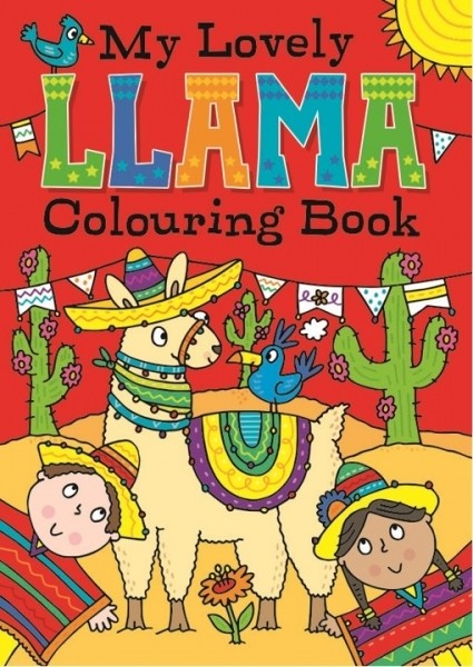 llama colouring