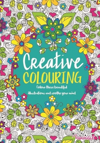 "Adult colouring book - ""Creative"""