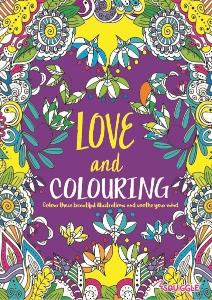 """Adult colouring book - """"Love"""""""