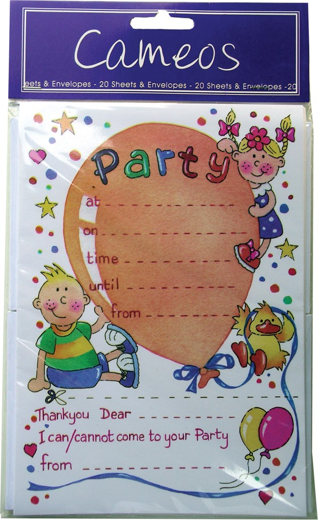 Party invitation pads