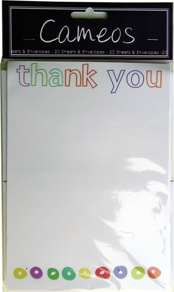 Thank you notepads