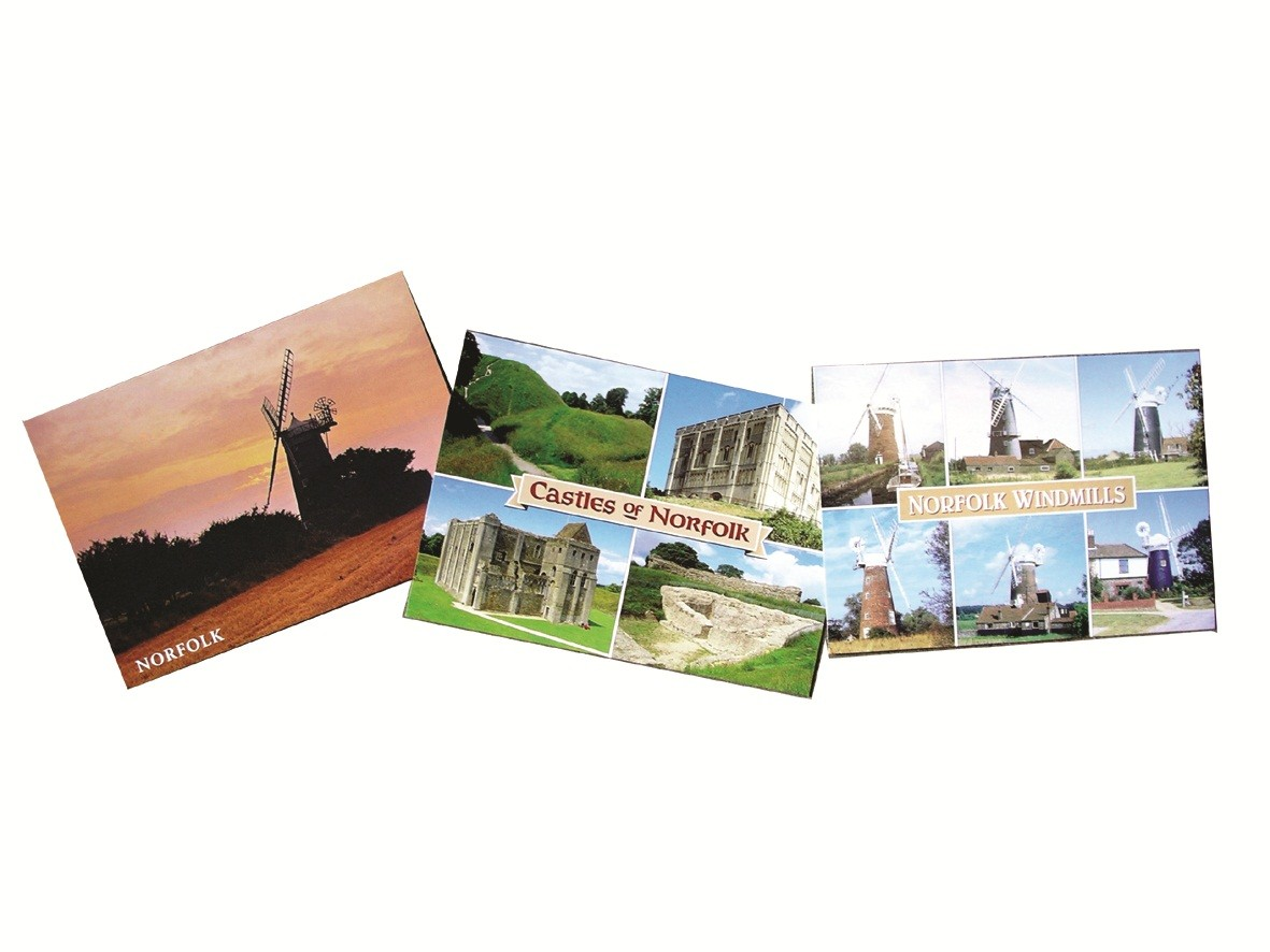50 assorted Norfolk postcards