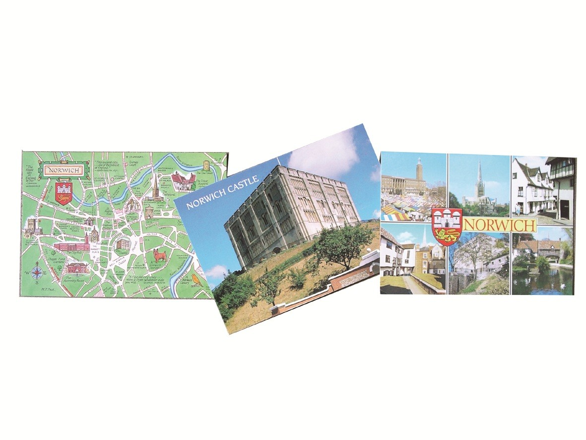 50 assorted Norwich postcards