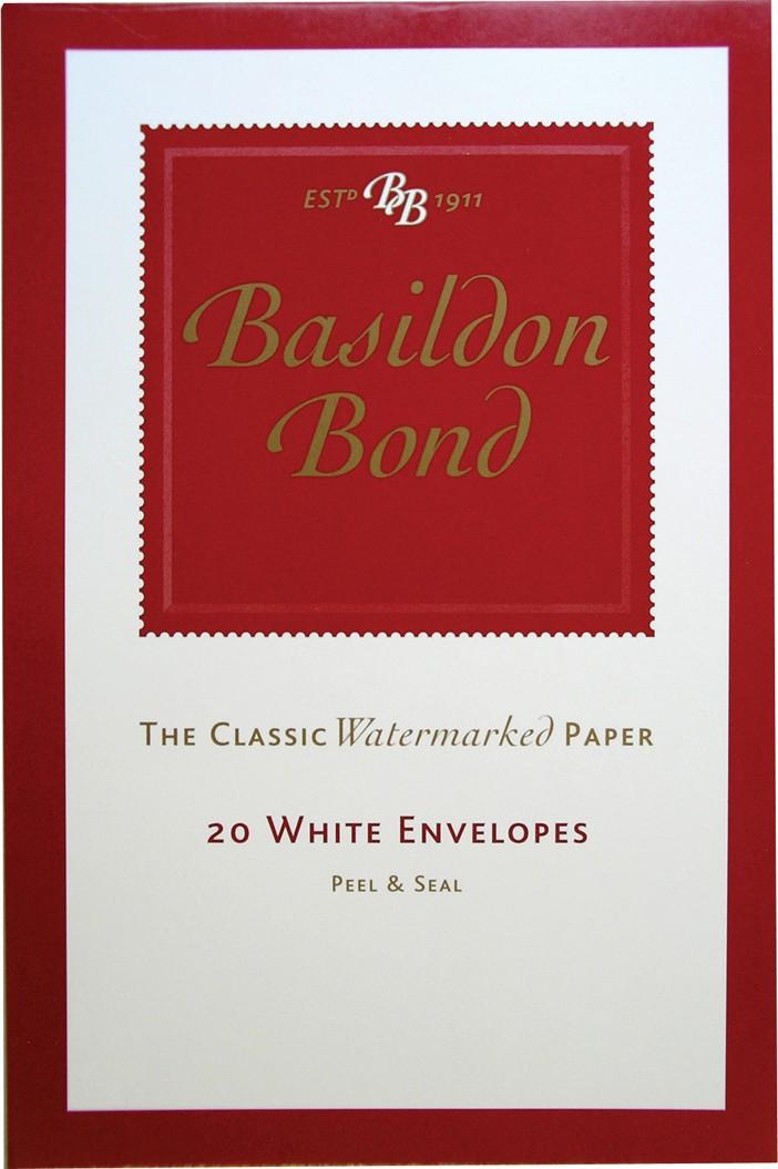 Basildon Bond, 20 white envelopes