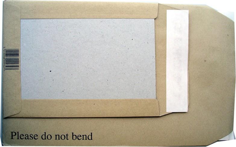 backed envelope