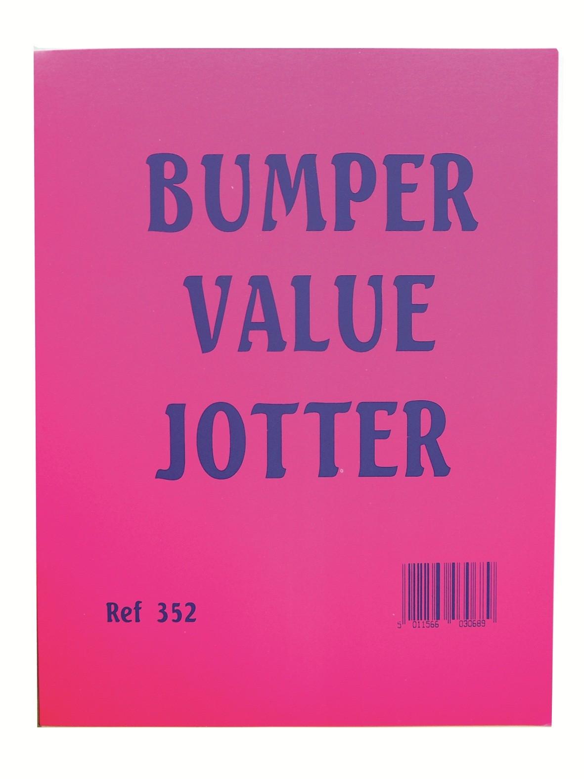 Bumper value jotter pad