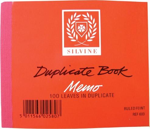 Duplicate memo book, half size