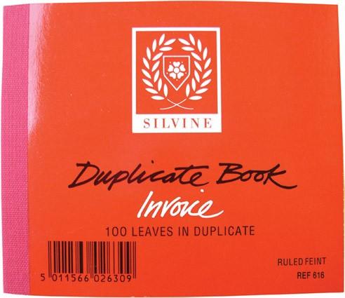 Duplicate Invoice book, half size