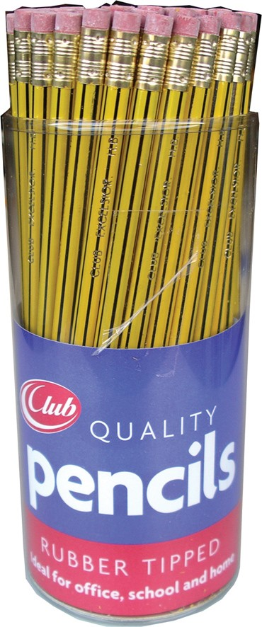 Rubber tipped pencils
