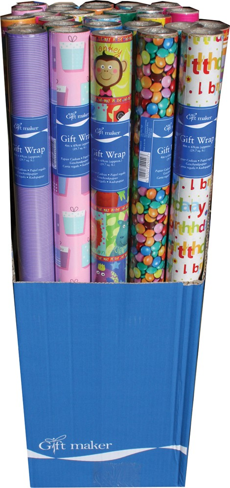 Roll of gift wrap - gents