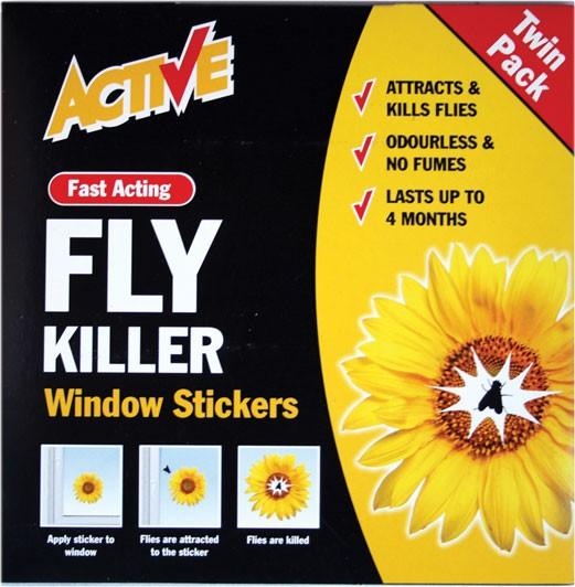 Fly trap window sticker