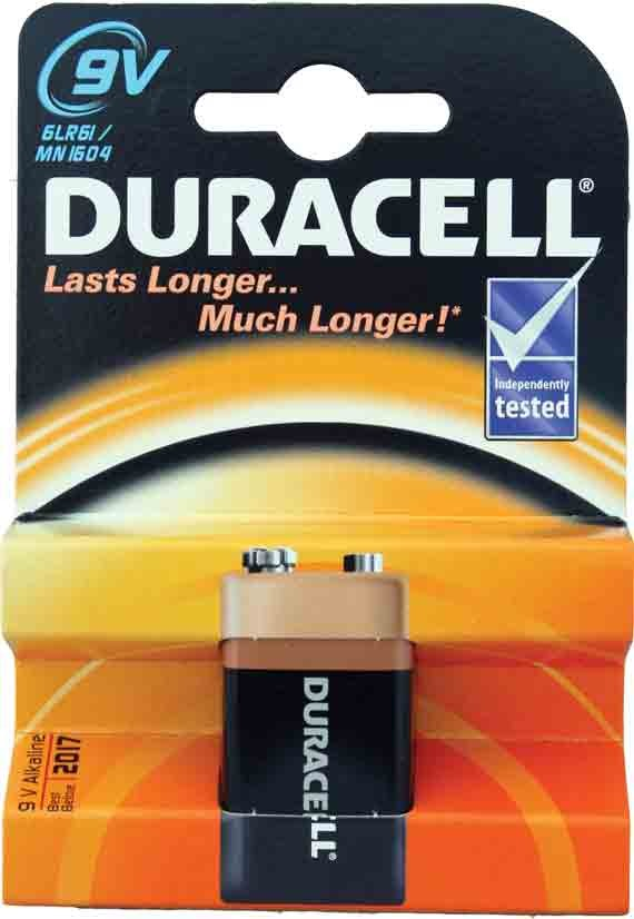 Duracell PP3 batteries