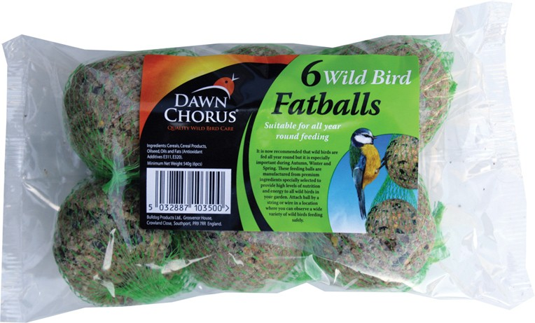 Six wild bird fat balls