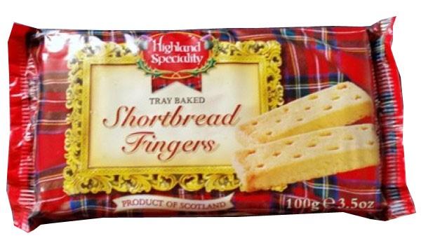 Box of 24 Tartan Shortbread Biscuits