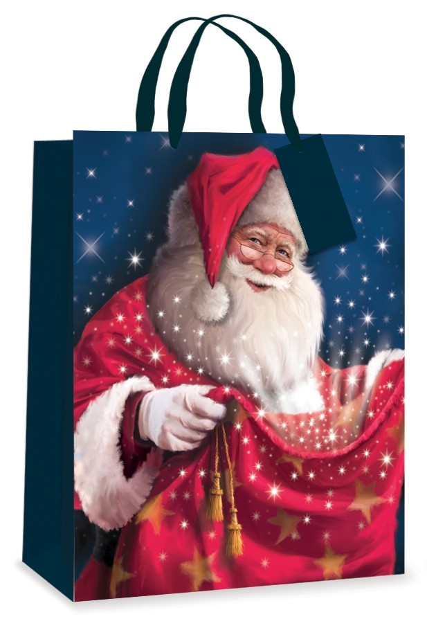 tradtional santa gift bag
