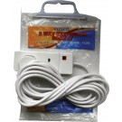 Extension lead - 2 way 3m