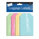 30 tie on luggage labels