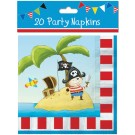 20 pirate party napkins