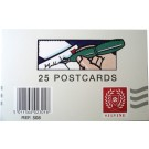 25 plain postcards