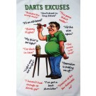 Darts Excuses Tea Towel