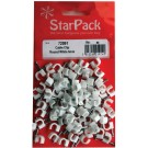 Packet of round white 6mm cable clips
