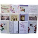 "12 ""Golden Wedding"" anniversary cards"