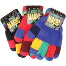 Child's (small) magic gloves with multicoloured fingers in navy, red, black or blue