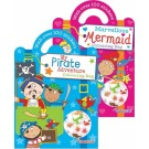 Pirates or Mermaid colouring and sticker