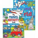 travel activity / around the world colouring