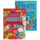 knights and pirates colouring